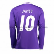Billige Real Madrid 2016-17 Fotballdrakter James 10 Bortedraktsett Langermet..