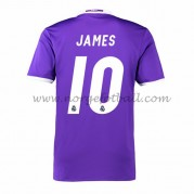 Billige Real Madrid 2016-17 Fotballdrakter James 10 Bortedraktsett Kortermet..