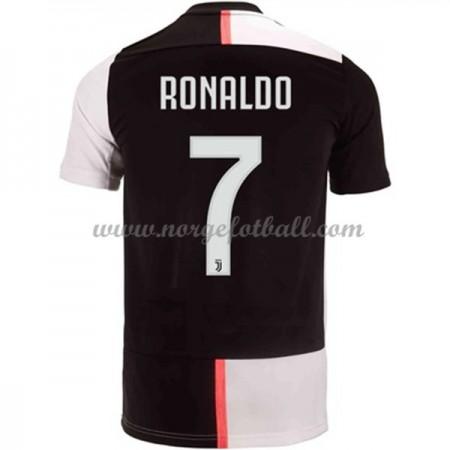 Billige Juventus 2019-20 Cristiano Ronaldo 7 Fotballdrakter Hjemmedraktsett Kortermet