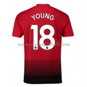 Billige Manchester United 2018-19 Fotballdrakter Ashley Young 18 Hjemmedraktsett Kortermet..