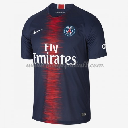 Billige Paris Saint Germain Psg 2018-19 Fotballdrakter Hjemmedraktsett Kortermet