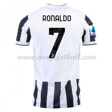 75342384 Billige Real Madrid 2017-18 Fotballdrakter Cristiano Ronaldo 7  Hjemmedraktsett Kortermet